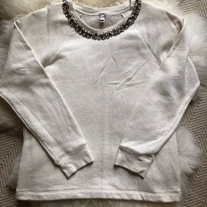 J. Crew Jewel Embellished Top